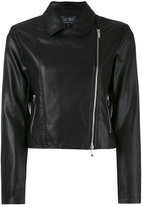 Armani Jeans classic biker jacket - women - Polyester/Polyurethane/Viscose - 42