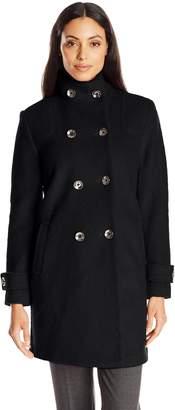 Fleet Street Ltd. Women's Classic Double Breasted Boiled Wool Coat