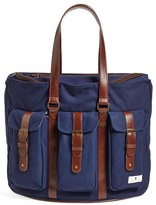 Diaper Dude Infant Boy's Convertible Canvas Diaper Bag - Blue