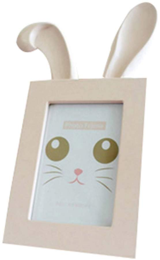 Panda Superstore 6 inch Wooden Picture Frame Unique Picture Frames Photo Frame Rabbit Ears