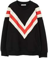 MANGO Striped oversize sweatshirt
