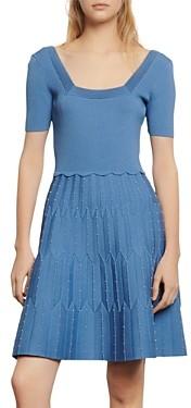 Sandro Flyn Knit A-Line Dress