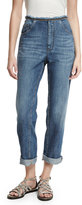 Brunello Cucinelli Raw-Edge Denim Jeans, Blue