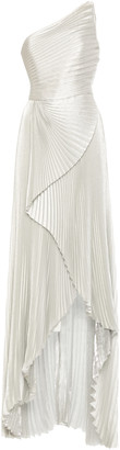 Semsem Pleated Silk-Blend Gown