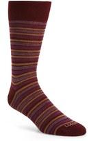 Lorenzo Uomo Men's Oxford Stripe Socks
