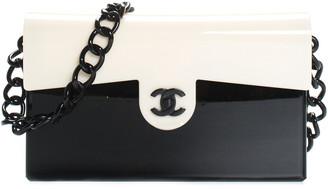 Chanel Black & Cream Acrylic Flap Bag