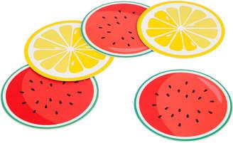 Sunnylife Set Of 16 Fruit Salad Reversible Coasters