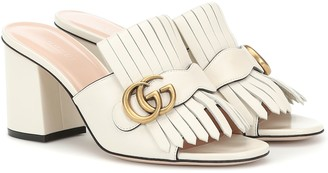 Gucci Marmont leather sandals