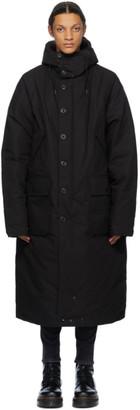 R 13 Reversible Black Down Anorak Puffer Jacket