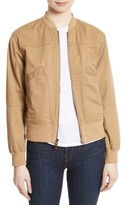 Theory Women's Salair Washed Chino Bomber Jacket