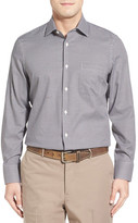 John W. Nordstrom Nordstrom Men&s Shop No-Iron Crepe Check Sport Shirt