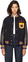 Miu Miu Navy Fox & Roy Varsity Jacket