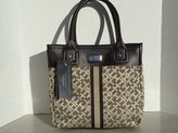 Tommy Hilfiger Tote Shopper Bag Canvas Chocolate