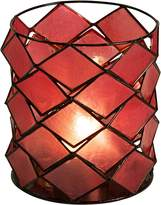 Casa Uno Capiz Round Tea Light Holder, SLH TP Red
