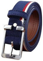 Sitong Unisex fashion stripe matte leather belt