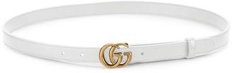 Gucci Marmont Leather Logo Belt