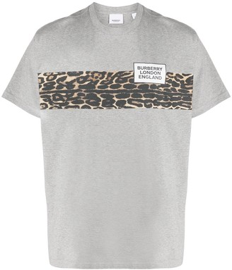 Burberry contrast stripe T-shirt