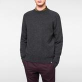 Paul Smith Men's Charcoal Grey Merino-Wool Raglan Knitted Sweater