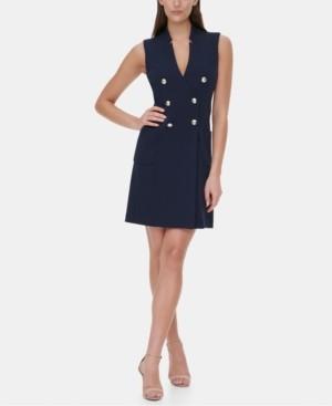 Tommy Hilfiger Sleeveless Button Sheath Dress