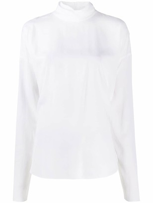 Brunello Cucinelli High-Neck Blouse