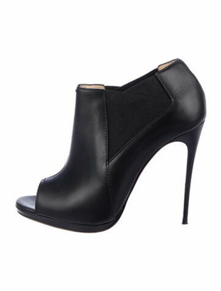 Christian Louboutin Leather Boots Black