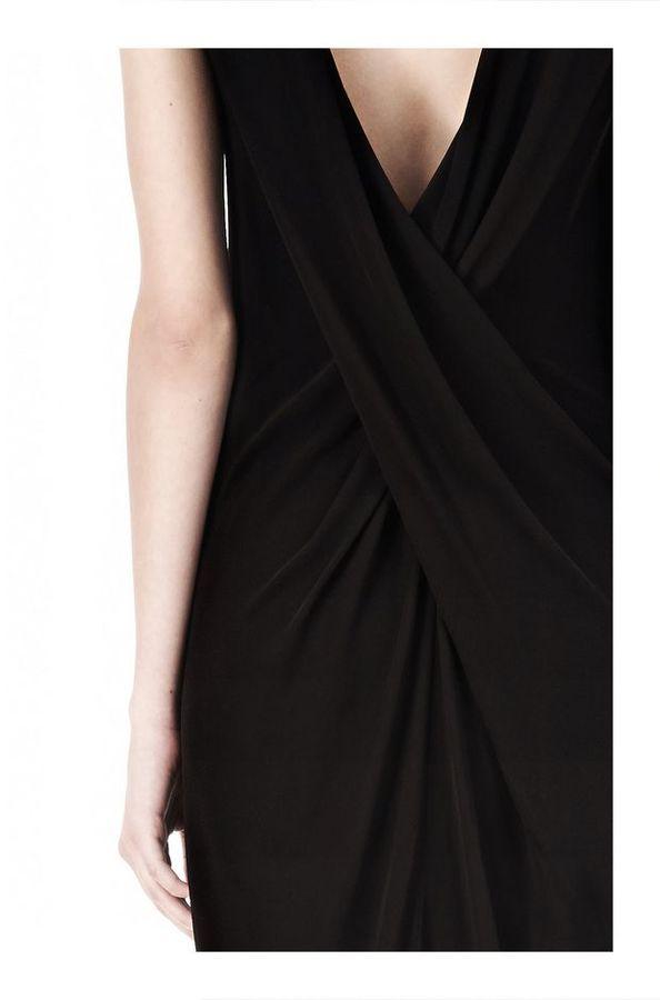 Alexander Wang Matte Jersey Dress With Crisscross Drape Back