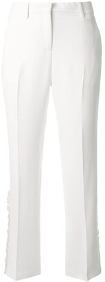 No.21 Cropped Ruffle Detail Trousers
