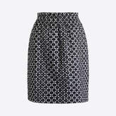 J.Crew Factory Embroidered sidewalk skirt in gingham