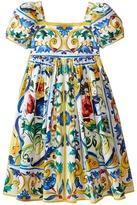 Dolce & Gabbana Escape Maiolica Poplin Dress (Big Kids)