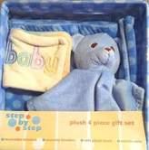 Pem America Step by Step Boys Blue Plush 4-Piece Gift Set