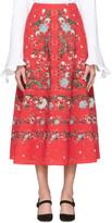 Erdem Red Tiana Convertine Skirt