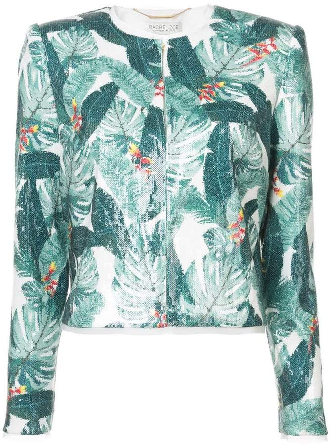Rachel Zoe leaf print jacket