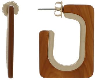 Basque Pecan Rectangle Tort Hoop Earrings
