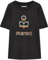 Etoile Isabel Marant Kendriwa Slub Linen-jersey T-shirt - Black