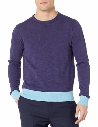 Michael Bastian Men's Cotton/Linen Slub Crewneck Sweater