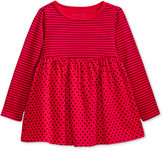 First Impressions Long-Sleeve Stripes & Dots Babydoll Tunic, Baby Girls (0-24 months), Only at Macy's