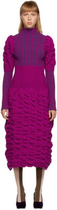 Paula Canovas Del Vas Purple Long Knit Dress