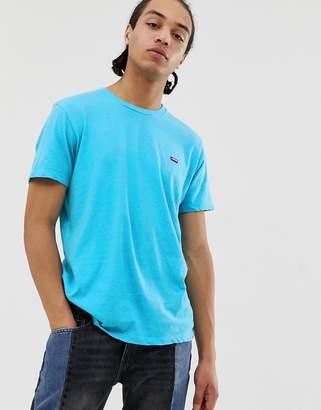 Levi's original batwing patch logo t-shirt in blue marl