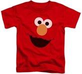 Sesame Street Classic TV Show Elmo Face Outline Little Boys Toddler T-Shirt Tee