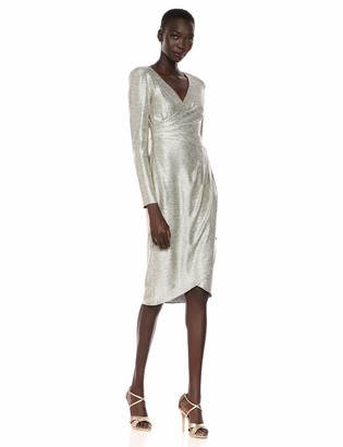 Adrianna Papell Women's Foiled Jersey Wrap Dress
