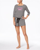 Kate Spade Printed Top And Skort Pajama Set