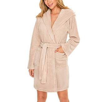 Vivisence Long Sleeved Hooded Smooth Dressing Gown 5008,2