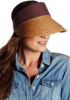 Flora Bella Tawny Braided Raffia & Canvas Visor