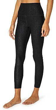Beyond Yoga Snake Print High Waist Midi Leggings