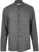 River Island Mens Black geo print casual shirt
