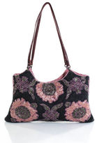 Jamin Puech Gray Wool Leather Beaded Floral Design Small Shoulder Handbag