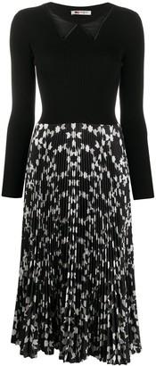 Ports 1961 Long Sleeve Pleated Dress