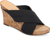 Aerosoles Party Plush Platform Wedge Sandals