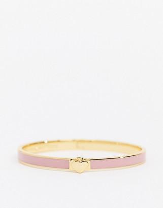Kate Spade enamel spade bangle in pink