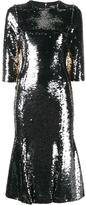 Dolce & Gabbana sequin embellished dress - women - Silk/Cotton/Polyamide/Spandex/Elastane - 44